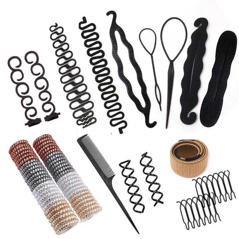 Заколка для укладки волос, ручная работа, инструменты для плетения волос, аксессуары для волос