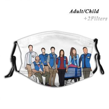 Superstore Print Reusable Pm2.5 Filter DIY Mouth Mask Kids Amy Amy Sosa Jonah Superstore America Ferrara Ben Feldman Dina Glenn image