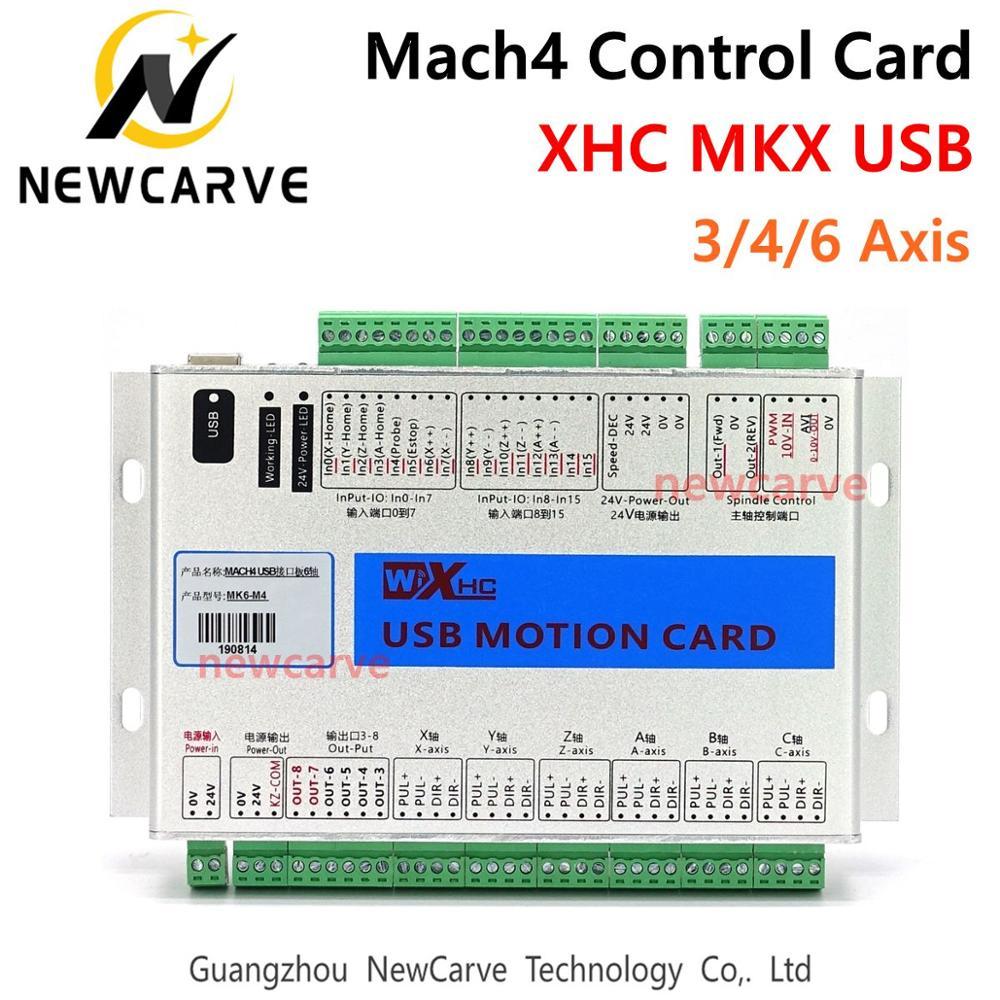 XHC Mach4 Новейшая Плата для прорыва 3, 4, 6 осей, USB карта для контроля движения, MKV M4 2000 кГц для фрезерного станка с ЧПУ/режущего станка