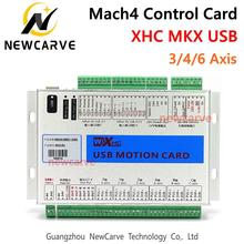 XHC Mach4 Newest Breakout Board 3 4 6 Axis USB Motion Control Card MKV-M4 2000KHz For CNC Router/ Cutting Machine NEWCARVE 3 axis cnc router control system nc studio control card