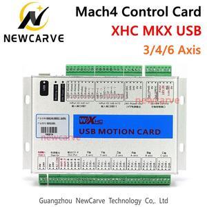 Image 1 - XHC Mach4 yeni kesme panosu 3 4 6 eksen USB hareket kontrol kartı MKV M4 2000KHz CNC Router/kesme makinesi NEWCARVE
