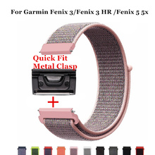 26mm 22mm Quick release Nylon Velcro Wrist Strap For Garmin Fenix 5 5X 3/Fenix 3 HR/forerunner 935 Wristband Watch strap