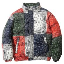 Padded Jacket Coat Parkas Windbreaker Puffer Streetwear Vintage-Pattern Harajuku Warm