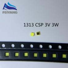 100 Pcs per Samsung Led di Retroilluminazione Dello Schermo Lcd Tv Applicazione Retroilluminazione a Led 3W 3V Csp 1313 Bianco Freddo per tv Tv Application