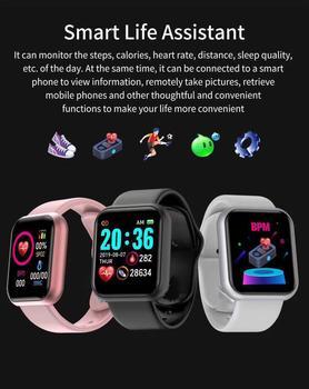 Bluetooth Smart Watch Y68 Fitness Tracker Bracelet Pedometer Waterproof Smart Band Heart Rate Blood Pressure Health Wristband