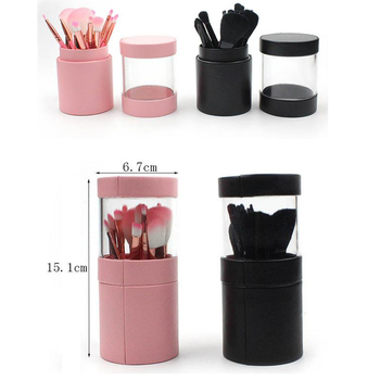Empty Storage Container Lipstick Tweezer Makeup Brush Holder Case Makeup Brushes Lipstick Box Makeup Barrel 3 size empty portable travel makeup brushes round pen holder cosmetic case pu leather cup brush holder tube storage organizer