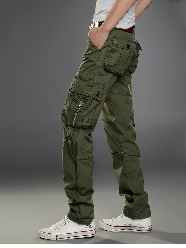 KSTUN New Cargo Pants for Men Baggy Casual Pants Male Overalls Full Length Trousers Loose Straight Cut Pants Zippers Pockets Desinger 20