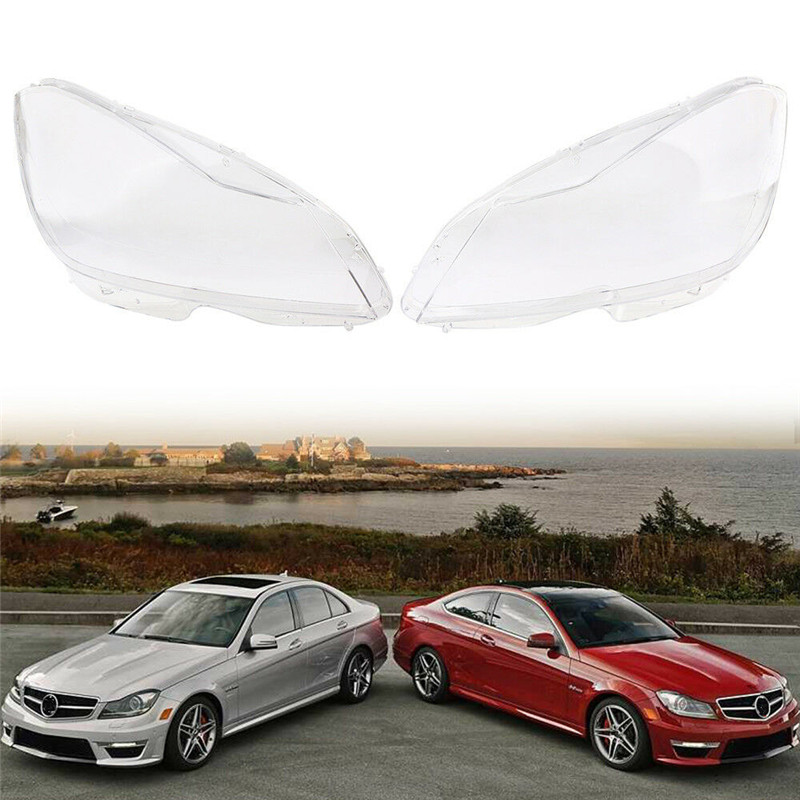 Car Clear Headlight Cover Lens Fit For Mercedes Benz C Class W204 2011-2015