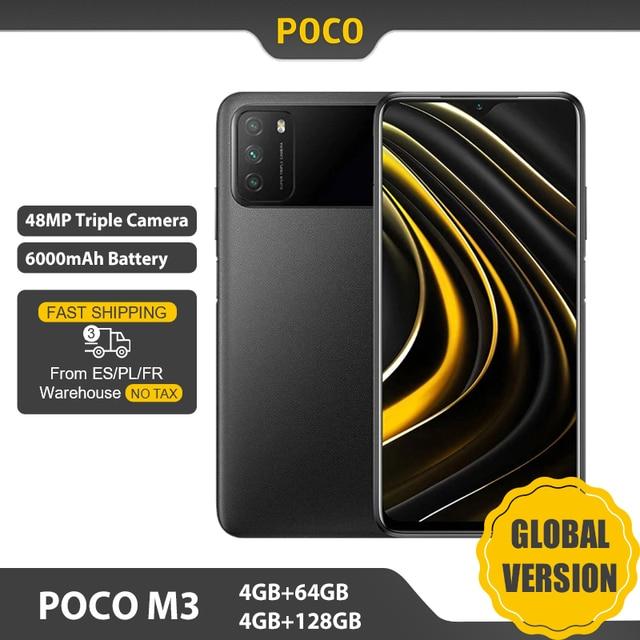 "Global Version POCO M3 Smartphone 4GB 64GB / 4GB 128GB Snapdragon 662 6.53"" Display 6000mAh Battery Dual Speakers 48MP Phone 1"