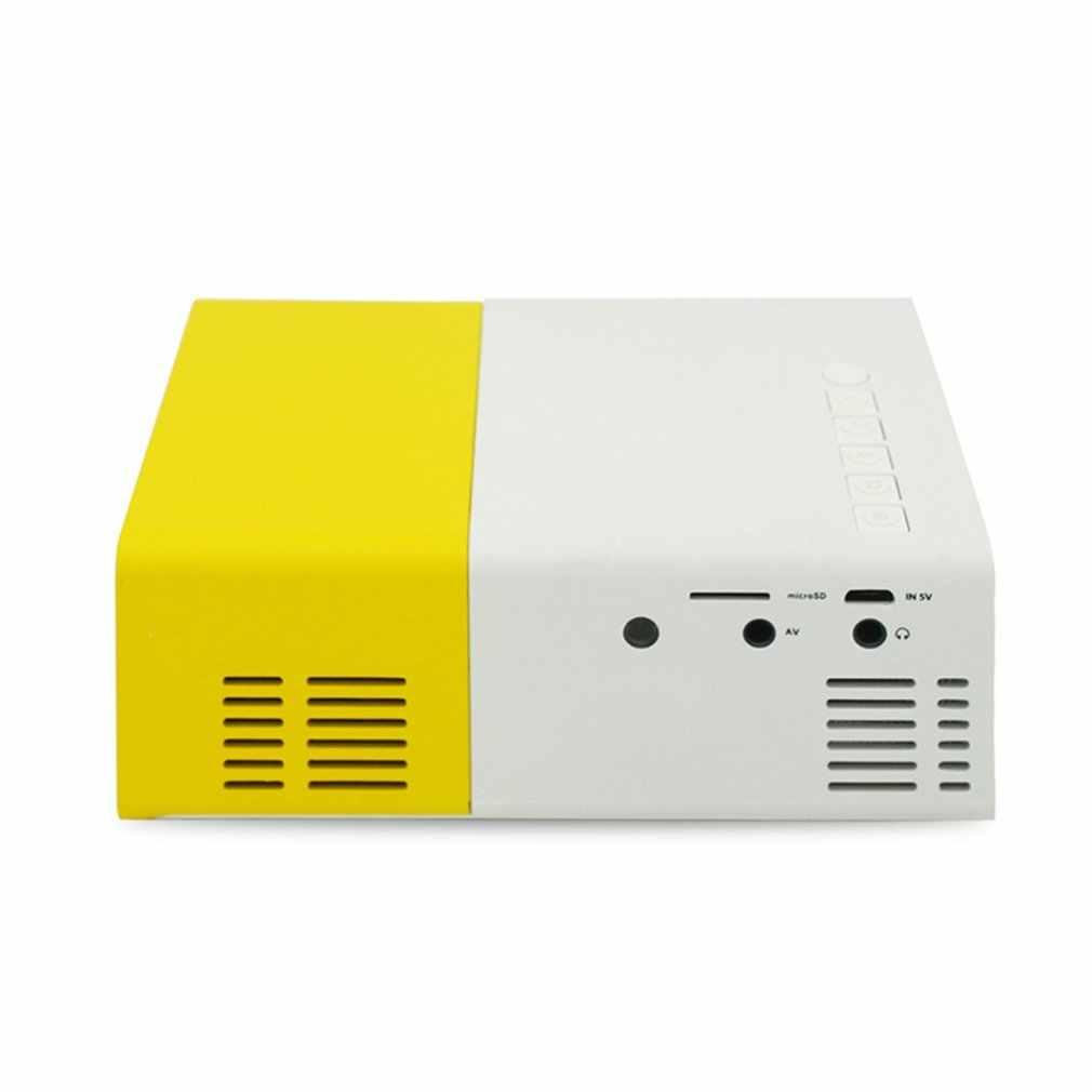 YG300 LED Mini Projector Resolusi Tinggi Ultra Portable HD 1080P HDMI USB Proyektor Media Player US EU AU UK socket Dua Warna