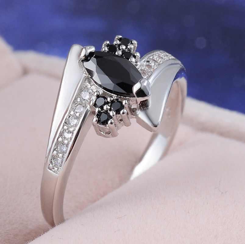 แหวนสีแดงสีแดงโกเมน Lady Glamorous ความมุ่งมั่นเครื่องประดับแหวนเงิน