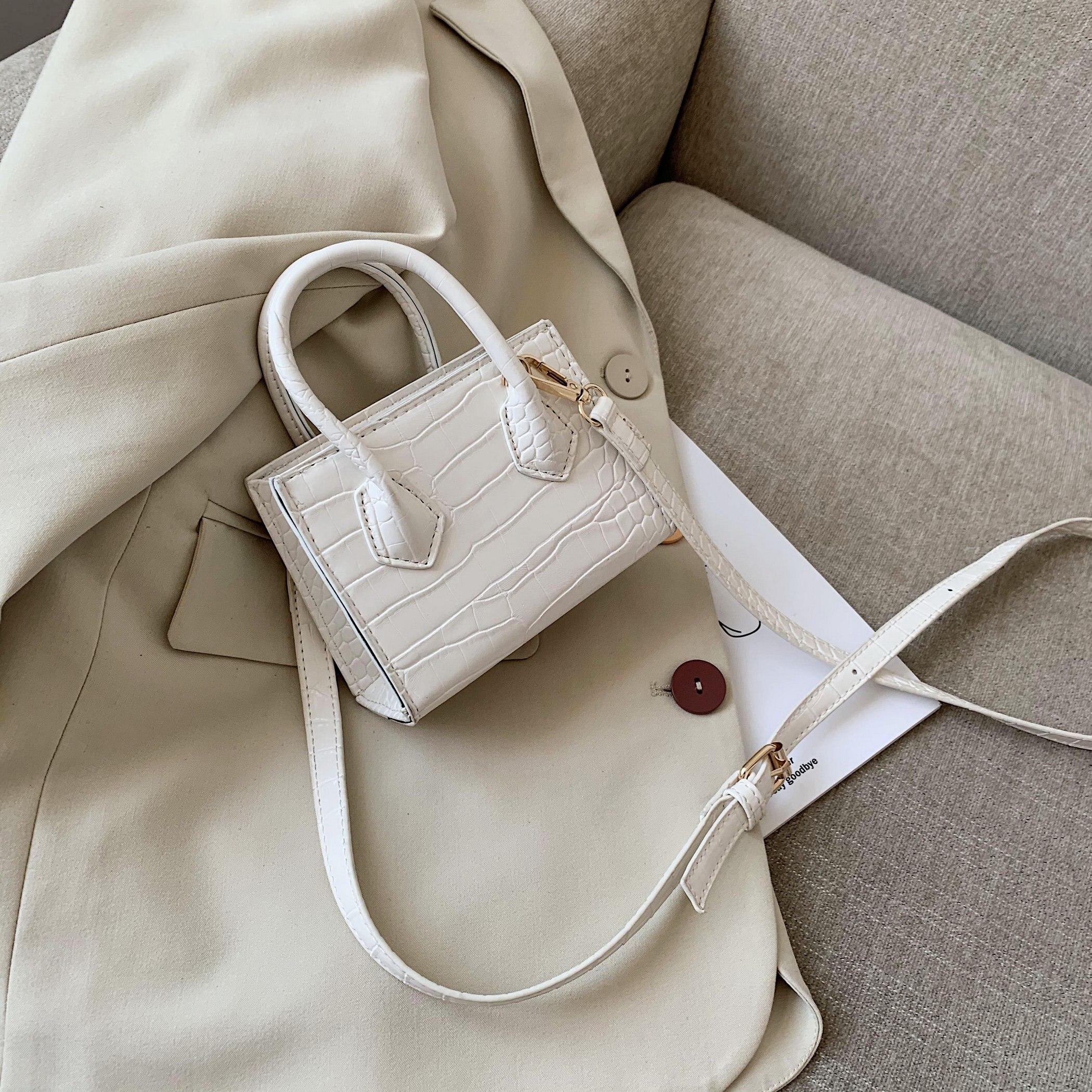 Super Mini PU Leather Crossbody Bags For Women 2020 Crocodile Pattern Shoulder Handbags Female Travel Lipstick Totes