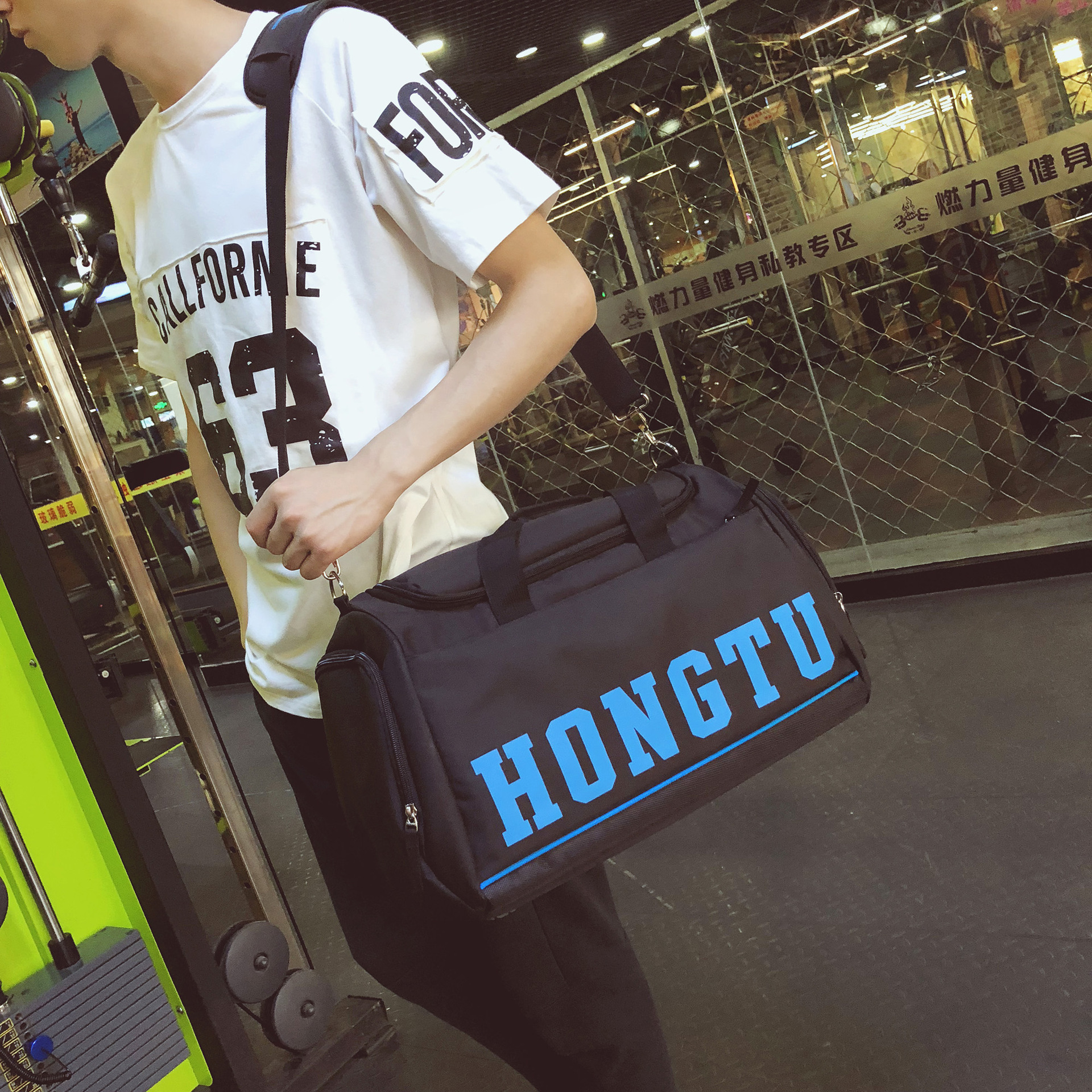 New Dry And Wet Separation Sports Gym Bag Casual Fashion One Shoulder Luggage Large Capacity Outdoor Travel Bag