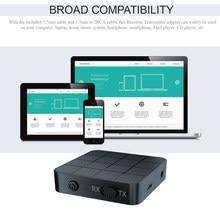 KN321 Bluetooth 5.0 Audio récepteur émetteur 3.5mm AUX Jack adaptateur pour voiture haut-parleur PC TV USB stéréo musique sans fil adaptateur