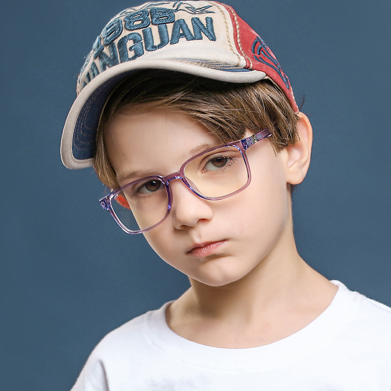 2021 Blue Light Glasses Children Blocking Computer Eyeglasses Kids Girls Transparent TR90 Soft Silicone Frame UV400