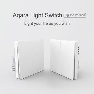 Image 2 - Aqara Interruptor de pared inteligente D1 con control remoto por voz, ZigBee, funciona con la aplicación Xiaomi Mi Home y Apple HomeKit