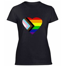 Pride Progress Rainbow Flag Lgbt Tshirt For Women 100% Cotton Outfit Comical Men And Women Tshirts Round Neck Plus Size S-5xl()