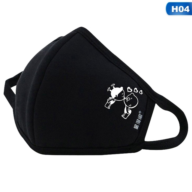 Men Women Fashion Cotton Luminous Face Mask Anti Air Pollution Dust Mask Windproof Flu Proof Face Cover Safety Protective Masks 5
