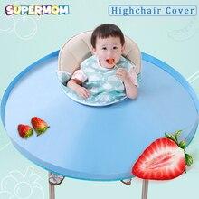 Детский чехол для стульев, портативный детский коврик для стола, водонепроницаемый коврик для кормления, блюдце для детей, анти-грязный нагрудник, аксессуары для кормления