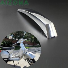 ABS Scooter Depan Fender Mudguard Mount Strip Crest Dekorasi Chrome untuk Vespa Px 125 150 200 Lml T5 Liga Disk(China)