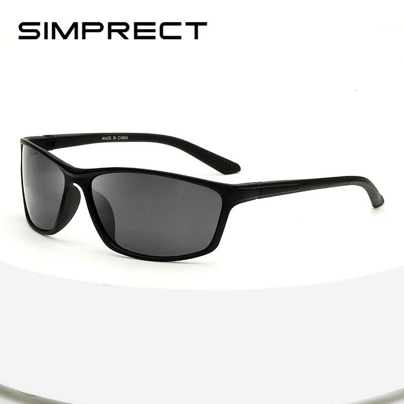 US $3.79 20% OFF SIMPRECT Photochromic Polarized Sunglasses Men 2020 Retro Sunglasses Vintage Square Driver's Sun Glasses For Men Black Oculos Men's