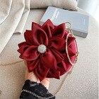 Red flower Clutch Pu...