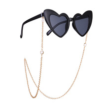2020 Luxury trendy women's Crystal Punk Gold metal eyewear chain glasses anti sl