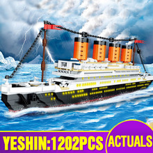 Yeshin 0577 Movie Series The Titanic RMS Streamboat Set Assembly Model 21317 Building Blocks Bricks Kids Christmas Toys Gifts
