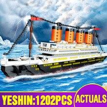 Yeshin 0577 série de film le Titanic RMS ensemble de bateau modèle dassemblage 21317 blocs de construction briques enfants noël jouets cadeaux