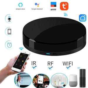 Image 2 - 2019 commande vocale IRBOX Mini universel intelligent infrarouge voix télécommande AC TV Support Tuya/vie intelligente APP Alexa Google Home