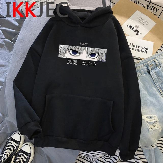 HXH Hunter X Hunter Hisoka Kurapika Hoodies Men Killua Zoldyck Devil Eye Sweatshirts Anime Hip Hop Hoody Streetwear Tops Male 1