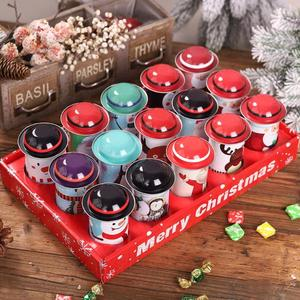 Image 2 - 1PCS Christmas Candy Tin Box Santa Claus Snowman Candy Cans Christmas Candy Jar Iron Boxes Gift Sweets Box Children Presents