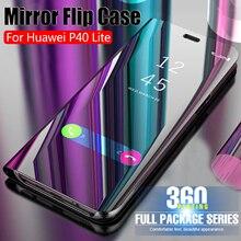 2020 Luxury Smart Mirror Flip Case For Huawei P40 Lite P 40Lite 40 Lite Leather Phone