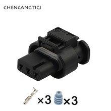 2 Sets Hirschmann 3 Pin forma eléctrica de Automoción de Cable impermeable de alambre de 1,2 MM conector para VW 3C0973203 872-858-541