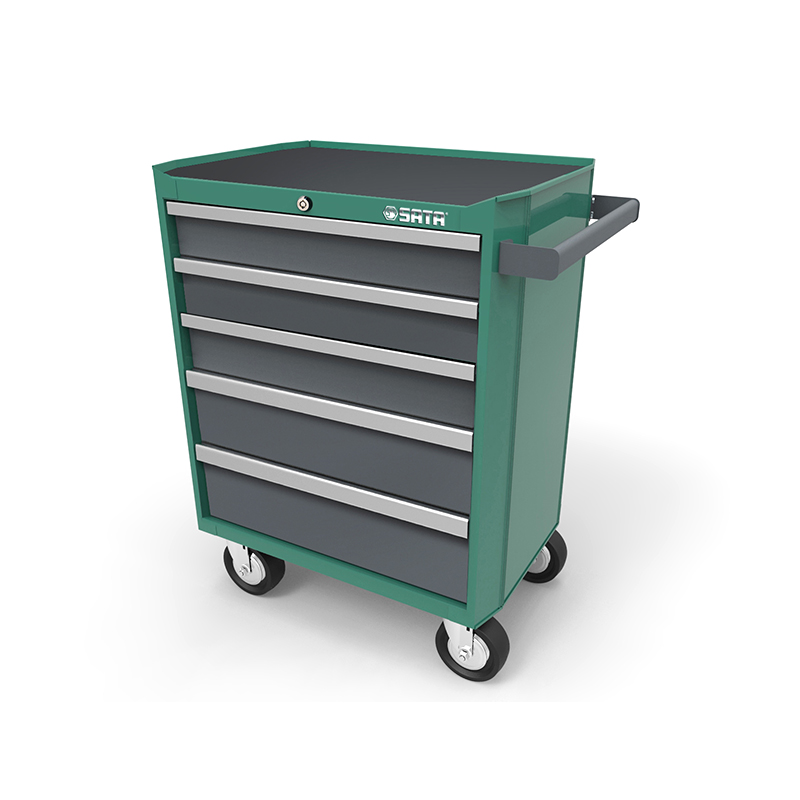 SATA 95121 For Tool Trolley (680X458x860) 5 Retractable. Trays. Practical Multifunction Metal Box For Tools