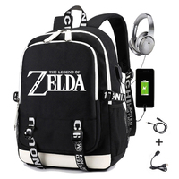 The Legend of Zelda Backpack for Men Printing Sword Breath of Wild Usb Charging School Bag Oxford Women Laptop Travel Backpack