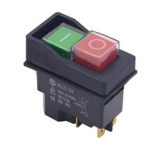 Su geçirmez IP55 basma düğmesi elektromanyetik anahtarı 4 Pin AC250V 16A manyetik marş el aleti emniyet anahtarları makine aracı için