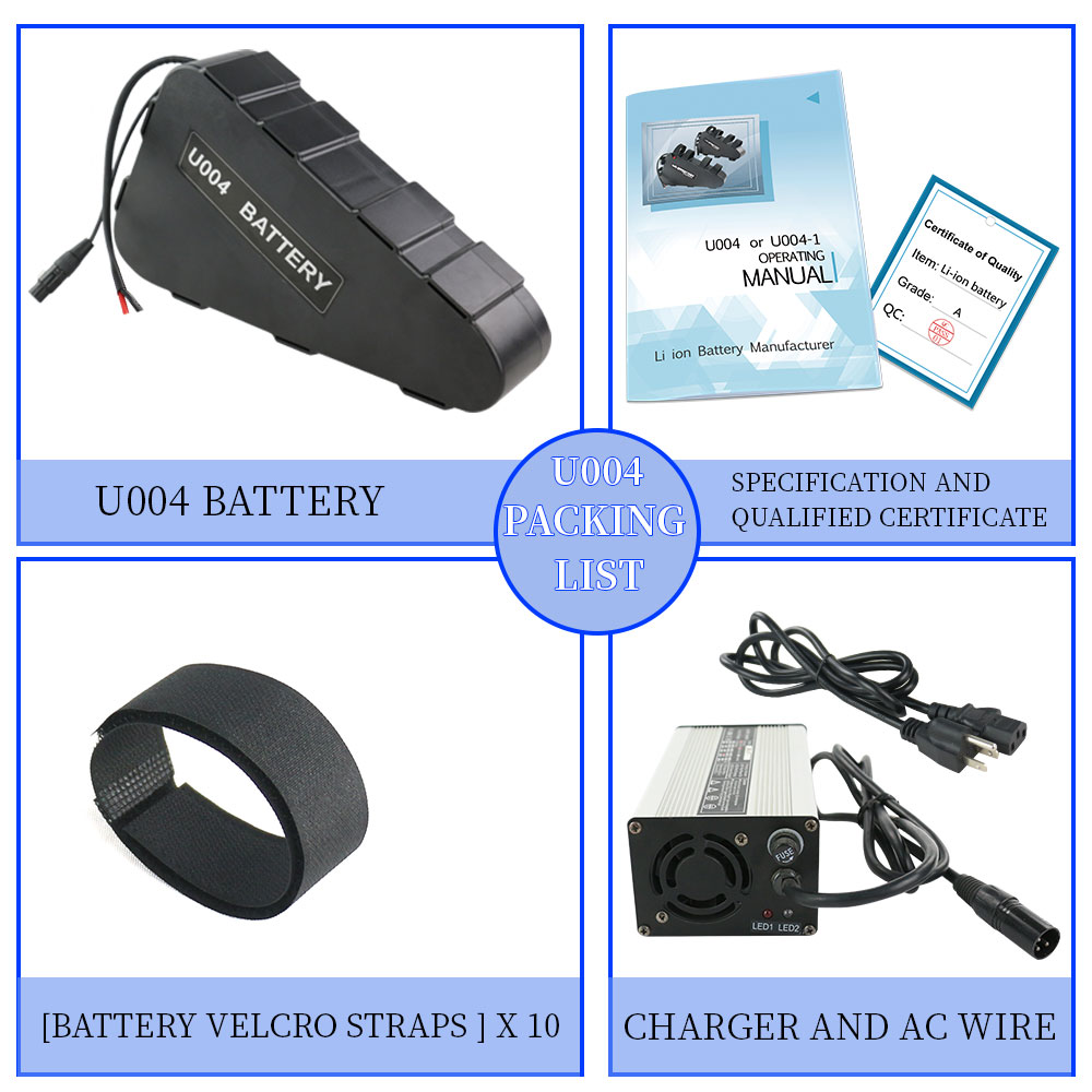 battery Indicator HalloMotor Hotsale Ebike Electric Bicycle 52V 20AH 1040Wh Waterproof Triangle Battery 5V 1A USB Charge Port 30A or 40A or 50A BMS