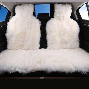 Akcesoria do wnętrza samochodu pokrowce na siedzenia samochodowe kożuch poduszka stylizacja futerkowe pokrowce na siedzenia samochodowe 6 kolorów na tylne obudowy 2015 D001-B