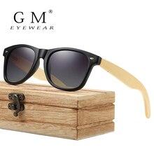 GM Bamboo солнцезащитные очки поляризованные новые женские деревянные солнцезащитные очки Брендовые дизайнерские зеркальные оригинальные солнцезащитные очки