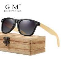 GM Bambus Sonnenbrille Polarisierte Neue Weibliche Holz Sonnenbrille Marke Designer Spiegel Original Sonnenbrille