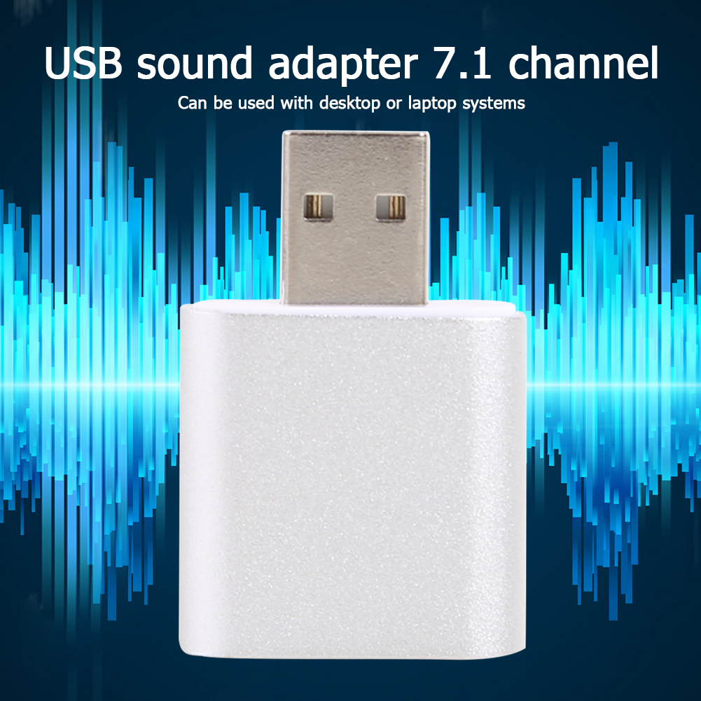 Virtual 7.1 External USB Sound Card Audio Interface Headphone Adapter Soundcard for Microphone Speaker Laptop Computer PC 4
