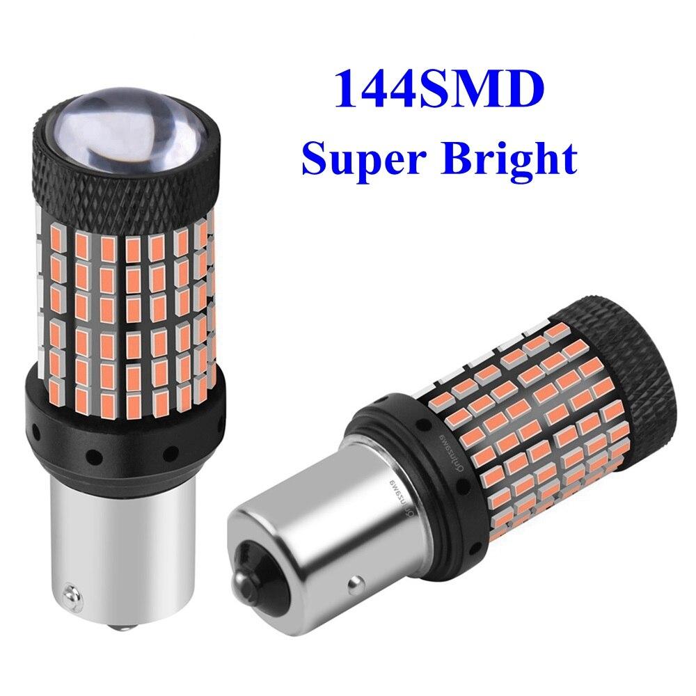 2 piezas 1156 BA15S P21W 7506 Super brillante 1600lm LED Luz de marcha atrás luz de freno trasero Luz de circulación diurna para coche bombilla de aparcamiento trasera