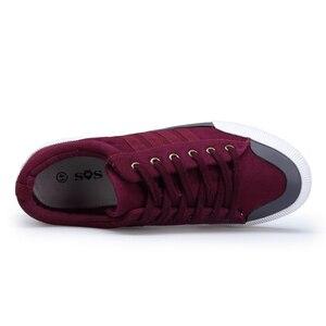 Image 3 - SHANTA 2020 Men Canvas Shoes Fashion Solid Color Men Vulcanized Shoes Lace up White Casual Shoes Men Sneakers chaussure homme