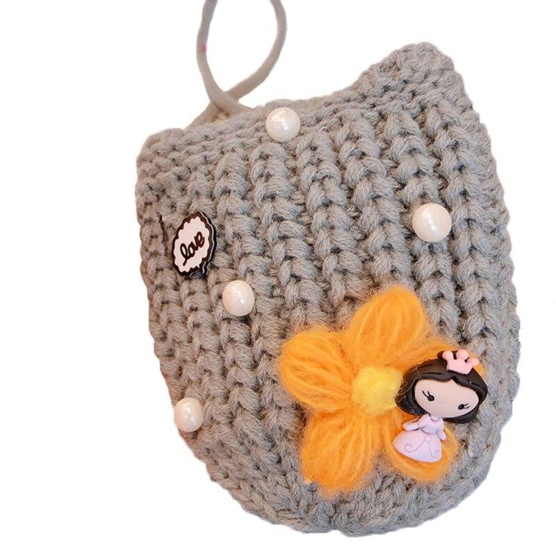 Детская сумка для девочек с милым мультяшным жемчугом, Вязаная Детская сумка через плечо, сумки через плечо, сумка-мессенджер - Цвет: H