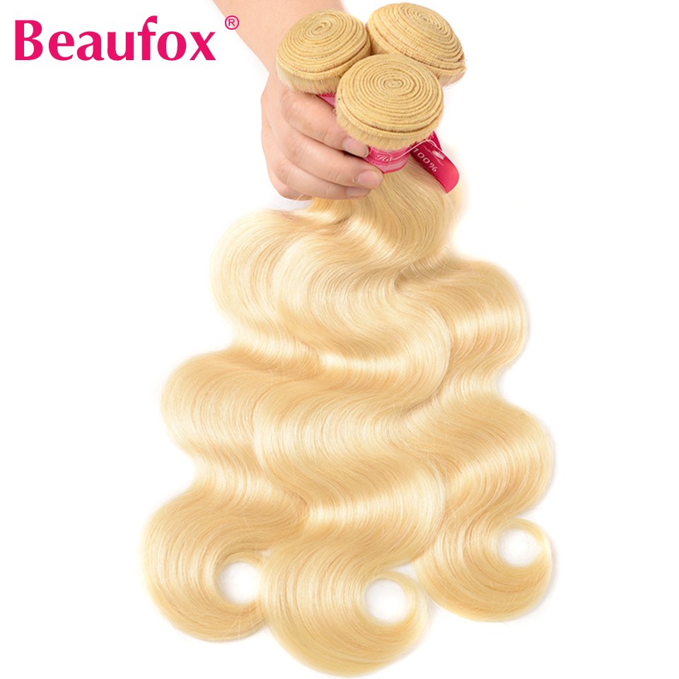 Ha2980ac246c94c889f7641c586121ef6e Beaufox 613 Blonde Bundles With Frontal Brazilian Body Wave With Frontal Remy Blonde Human Hair Lace Frontal Closure With Bundle