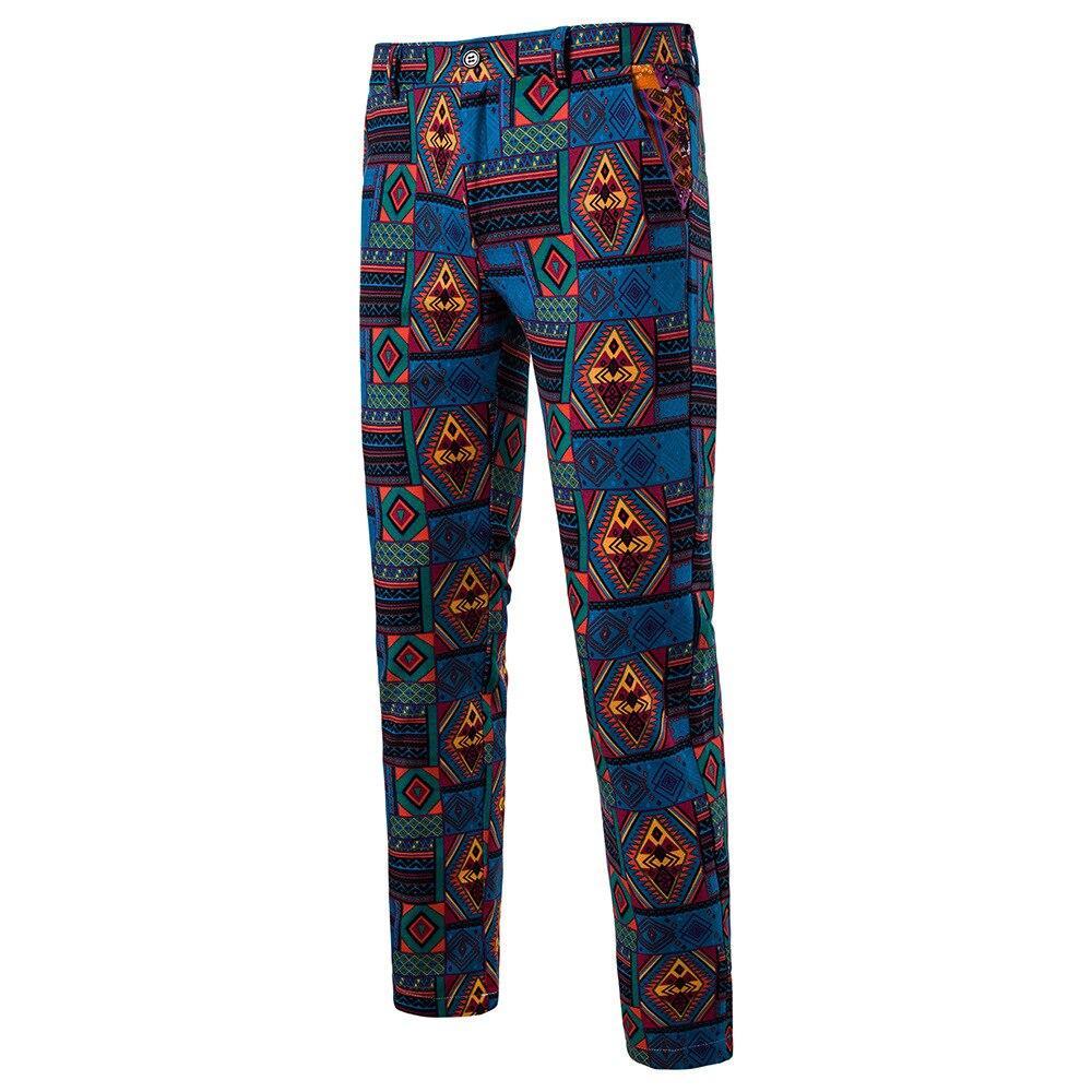 Мужская Мода Национальный Ветер Повседневное модные Для мужчин Блейзер Для мужчин s Брюки - Цвет: 14