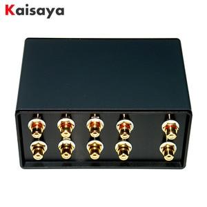 1 вход, 4 выхода, одновременно пассивный аудио переключатель сигналов, переключатель, селекторная коробка, Звук Hi-Fi, аудиосигнал, сплиттер с ...
