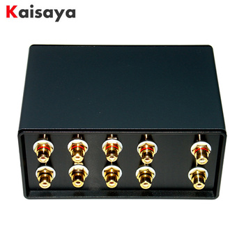 1 Input 4 Output Simultaneously Passive Audio Signal Switcher Switch Selector Box Sound HiFi Audio Signal Splitter With RCA G104