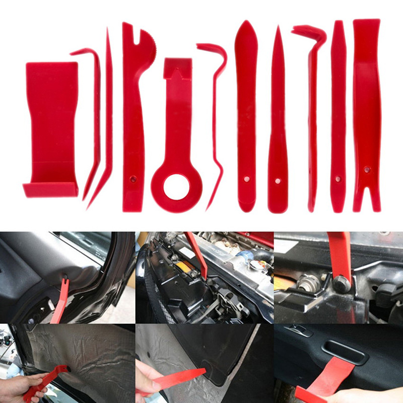 New 11Pcs Auto Pry Repair Kit Car Radio Panel Interior Door Clip Panel Trim Dashboard Removal Opening Tool Set Handmake